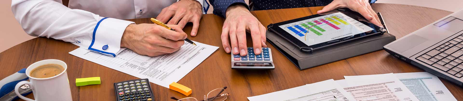 Team providing accounting services